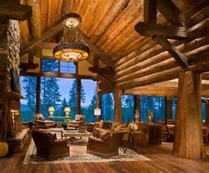 log cabin great room log great room home ideas window cabin