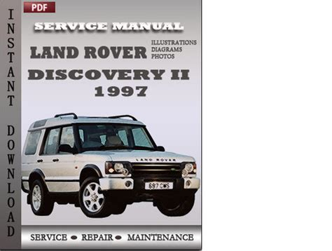auto repair manual free download 1997 land rover defender 90 on board diagnostic system land rover discovery 2 1997 service repair manual download manual