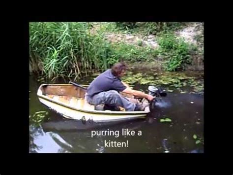 small boat big motor epic outboard motor on small boat test fail part 2 youtube