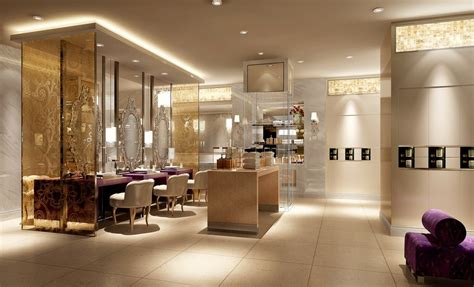 Hall And Parlor House beauty salon interior lighting and wall design rendering