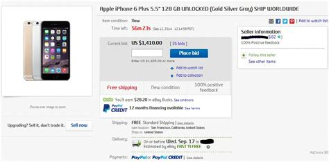 Ebay Sell Outs by Apple Iphone 6 Plus Sold Out Now Heading To Ebay