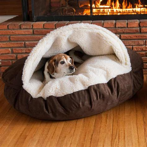 beds for puppies snoozer cozy cave bed 12 colors fabrics 3 sizes