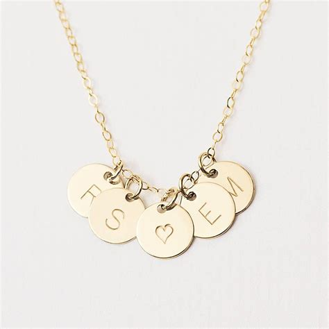 I Necklace personalised initial disc necklace by minetta jewellery