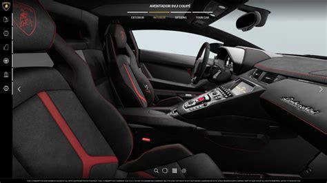 lamborghini aventador svj roadster interior lamborghini launches aventador svj configurator