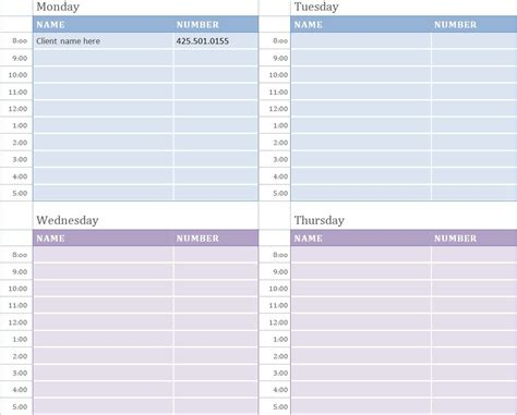 printable daily appointment sheets calendar template 2016