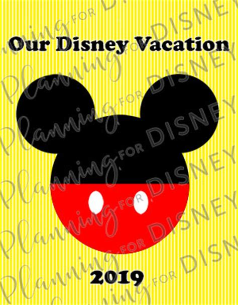 2019 yellow mickey mouse – our disney vacation cover