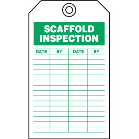 scaffold inspection checklist free template safety inspection tags scaffold inspection seton