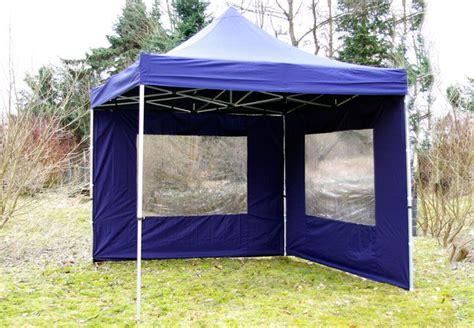 3x3 meter pavillon profi falt pavillon 3x3 m blau 2 seitenteile faltpavillon