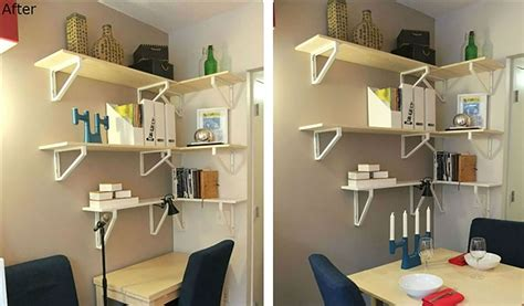 ikea kitchen wall storage d s small apt ideas pinterest storage small kitchens and love see ikea s smart makeover of this 300 sq ft bronx studio