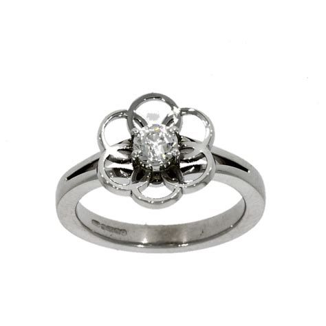 18ct white gold solitaire ring nicholas wylde