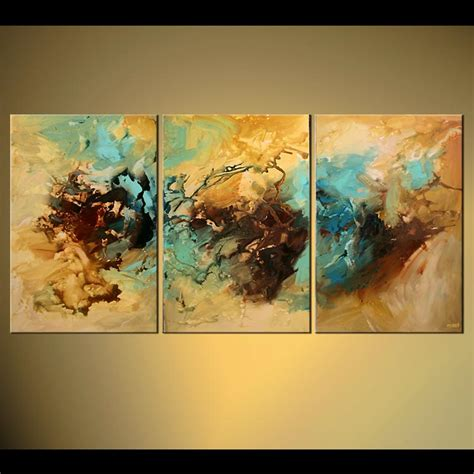 abstract art home decor abstract painting triptych abstract decor wall home soft