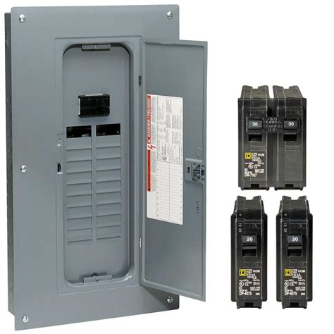 Panel Box 100 breaker panel 40 circuit load center square d homeline w breakers box ebay