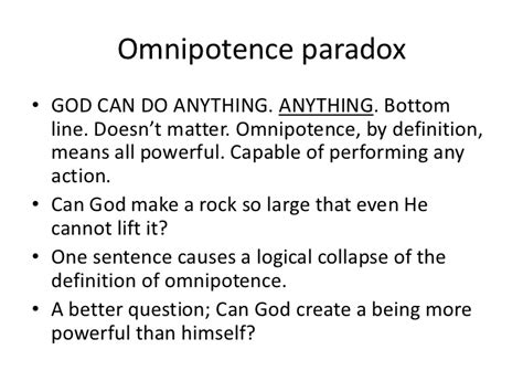 the paradoxes of jesus his god doesn t exist