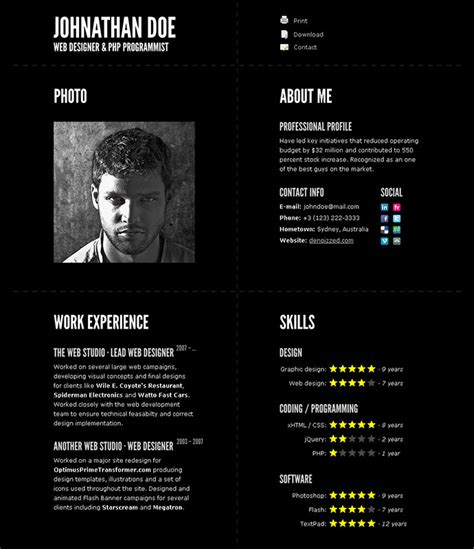 design curriculum vitae online 52 modern free premium cv resume templates