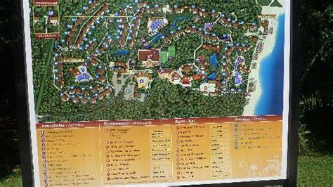 eco resort map at resort picture of sandos caracol eco resort