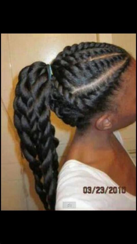 african braids pictures of cornrow braids in pony tails cornrows ponytail cainrow hairstyles pinterest cornrows
