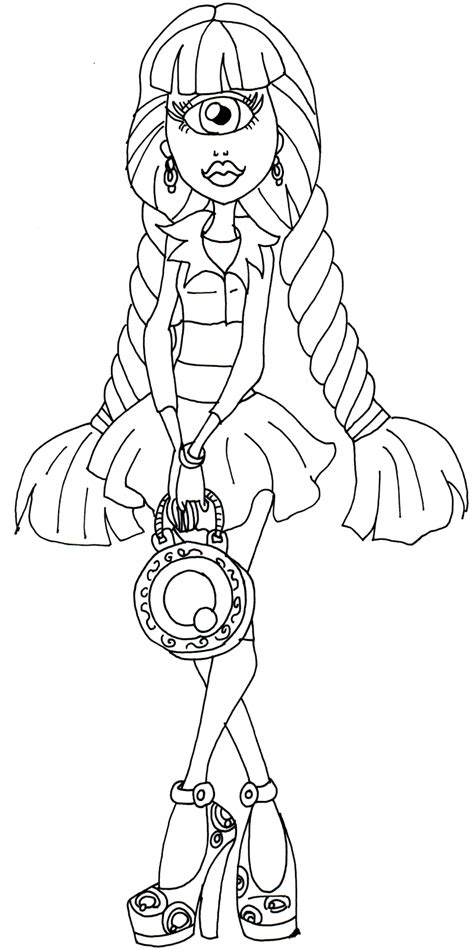 High Dolls Coloring Pages high doll coloring page