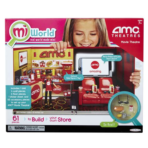 miworld deluxe environment set  doll amc  theater