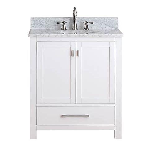 30 bathroom vanity combo modero white 30 inch vanity combo with white carrera