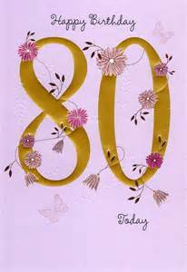 happy 80th birthday greeting card lovely greetings cards verse ebay