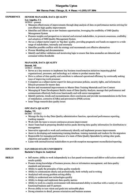 Quality Resume by Data Quality Resume Sles Velvet