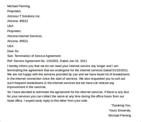 lease termination letter template sample letter of intent template