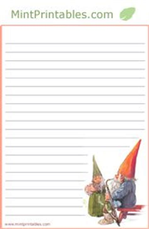 printable paper gnomes owl writing paper lined paper owl theme writing