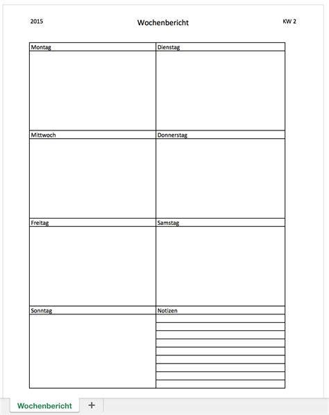 Praktikumsbericht Tabellarisch Vorlage Wochenbericht Mit Excel Kostenlos Excel Vorlagen F 252 R Jeden Zweck