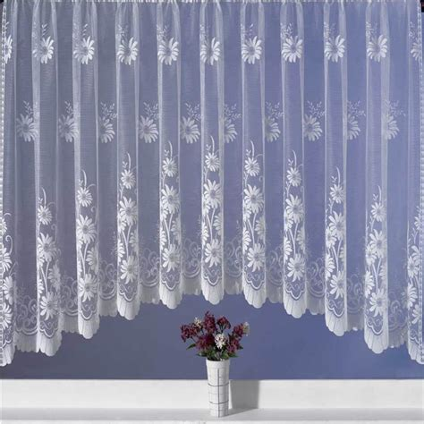 lace curtains garden of joy luxury net curtain jardiniere ready made white lace