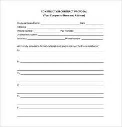 Contract Bid Template by Construction Template 10 Free Sle Exle