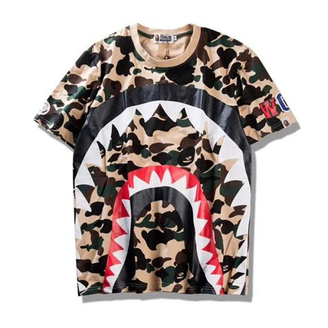 Kaos T Shirt Bape Shark Wgm New a bathing ape bape wgm shark camo t shirt