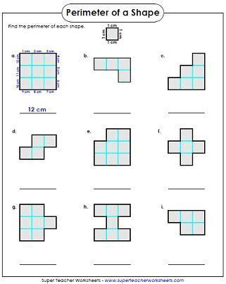 get printable area c perimeter worksheet 3rd grade 3rd grade pinterest