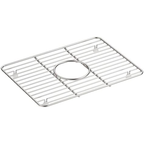 Kitchen Sink Racks Stainless Kohler Cairn 10 375 In X 14 25 In Stainless Steel Kitchen Sink Basin Rack K 5198 St The Home