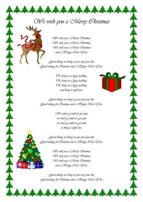merry christmas worksheet  esl printable worksheets   teachers