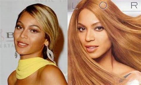 beyonce skin color l oreal accused of whitening beyonc 233 knowles in