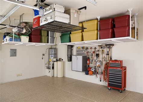 Garage Organization Overhead Garage Shelving Ideas To Make Your Garage A Versatile