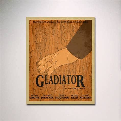 gladiator film book gladiator minimalist movie poster movie theater poster