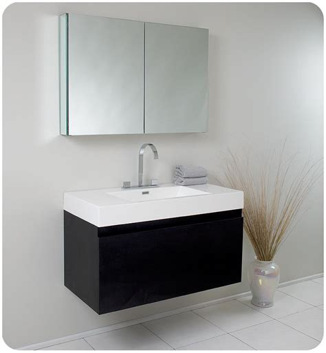 black wall mounted medicine cabinet fresca fvn8010bw black mezzo 39 quot wall mounted mdf vanity