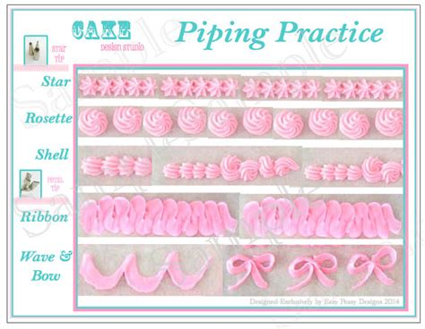 cake piping templates items similar to piping practice placemat printable icing