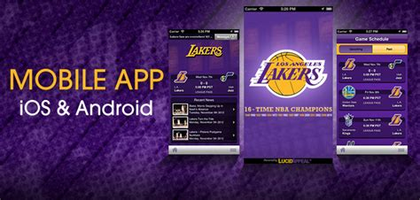 nba mobile app android los angeles lakers launch mobile app with lucid appeal the official site of the los angeles lakers