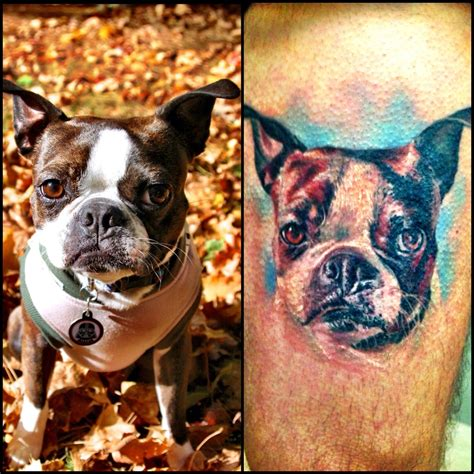 boston terrier tattoo boston terrier tattoos that will you away