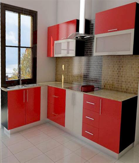 modular kitchen price l shaped modular kitchen in gloss finish available at