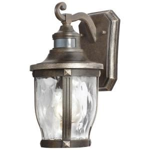 Motion Sensor Outdoor Lighting Home Depot Home Decorators Collection Mccarthy 1 Light Bronze With Gold Highlights Outdoor Motion Sensor