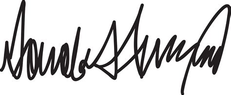 clipart donald trump signature