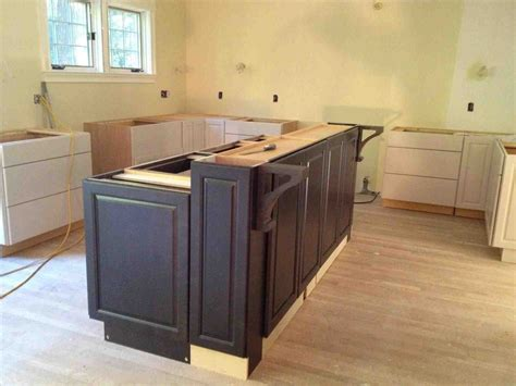 build a kitchen island out of cabinets the images collection of cabinets build modern diy kitchen island using base cabinets how to