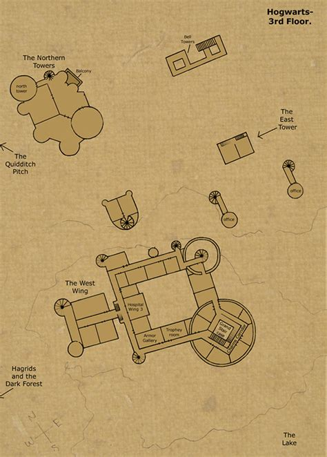 hogwarts castle floor plan 3rd floor by hogwarts castle on deviantart