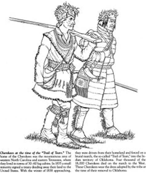 cherokee trail of tears page coloring pages