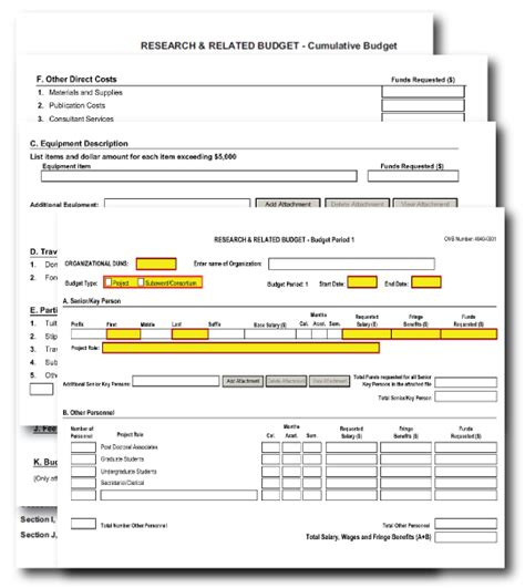 nih r01 template g 300 r r budget form