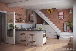 kitchen wall design modern kitchen with brick wall decor interior design ideas