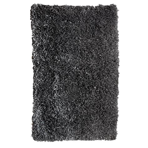 hanford shag rug home decorators collection hanford shag grey 5 ft 3 in x 7 ft 5 in area rug 70010301602258